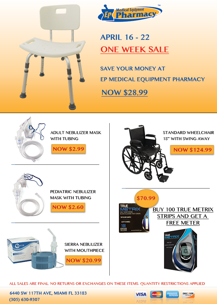 Offers at EP Medical Equipment Pharmacy