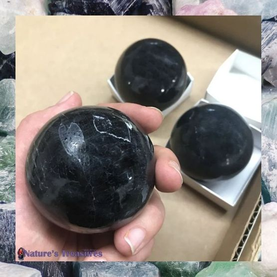 Black Tourmaline Sphere 55mm