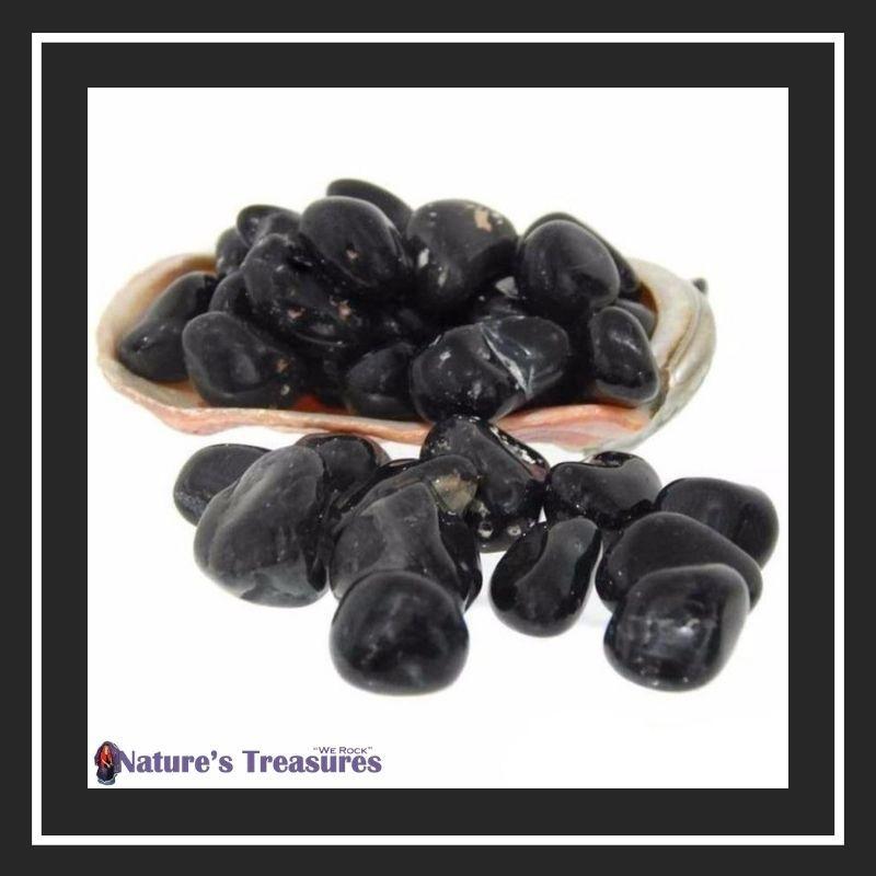 Black Onyx Small Tumbled Stones