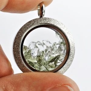 Moldavite Herkimer Diamond Pendant