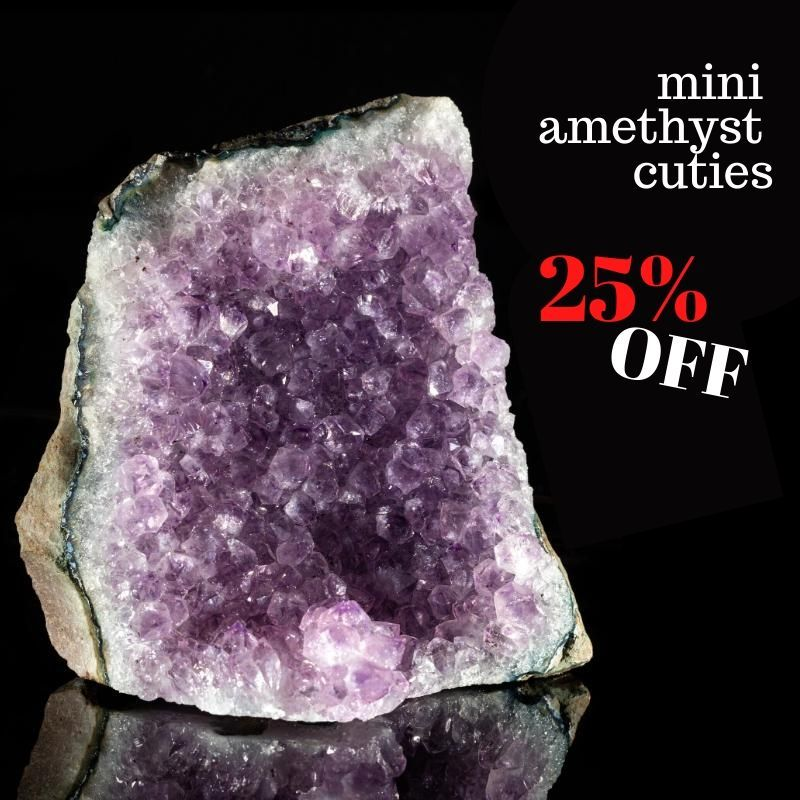 AMETHYST CLUSTERS 25% OFF
