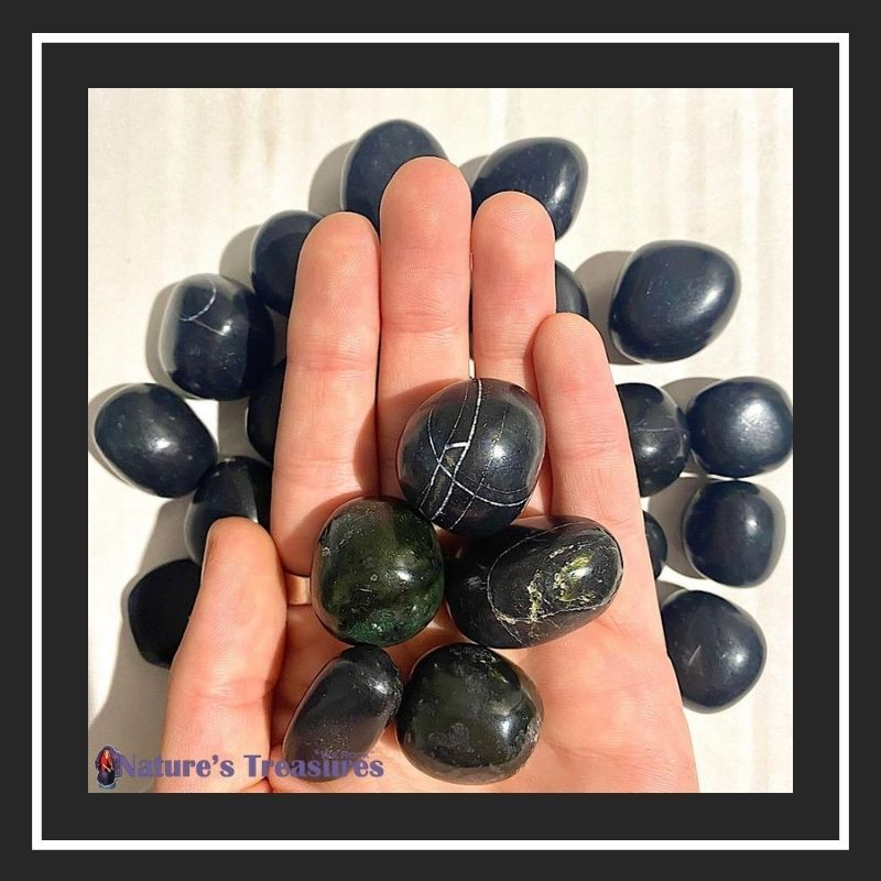 January Birthstone Black Onyx Tumbled Stone