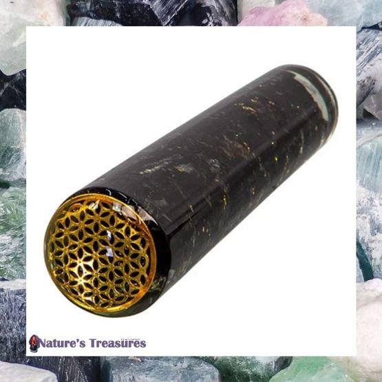 Black Tourmaline Flower of Life Massage Wand