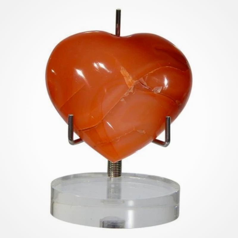 Carnelian Puff Heart