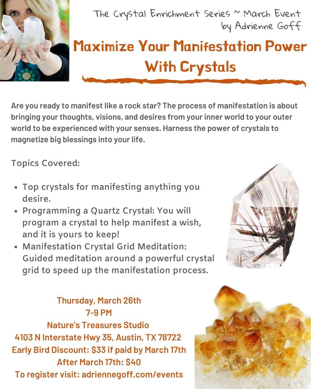 Crystal Enrichment Series: Manifest