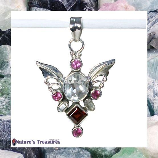 Tourmaline Angel Pendant