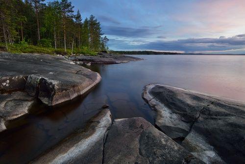 Lake Onega Karelia Russia