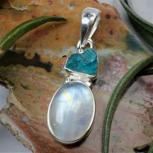 Moonstone and Apatite Pendant