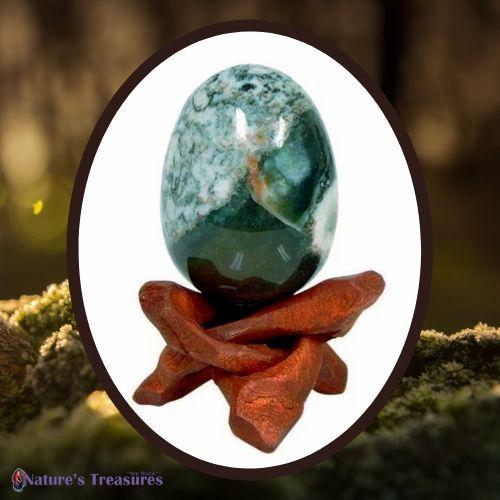 Moss Agate Egg