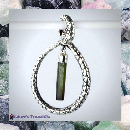 Tourmaline Snake Pendant