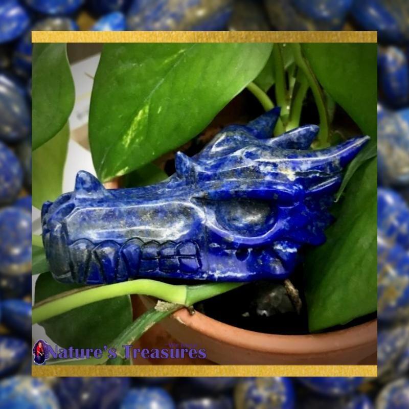 Lapis Dragon Skull