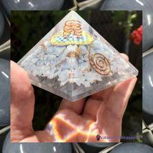 Angelite Orgonite Pyramid