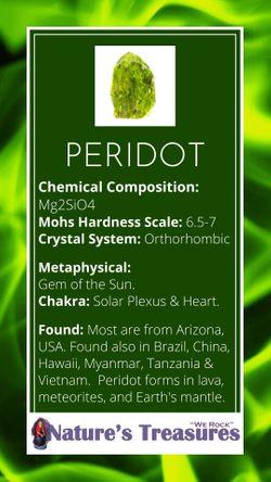 Peridot Info Card