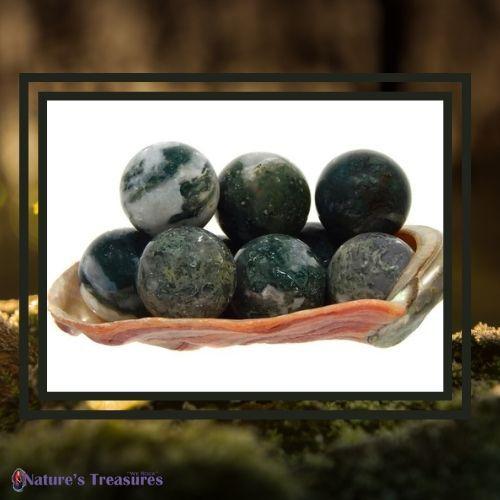 Moss Agate Mini Spheres