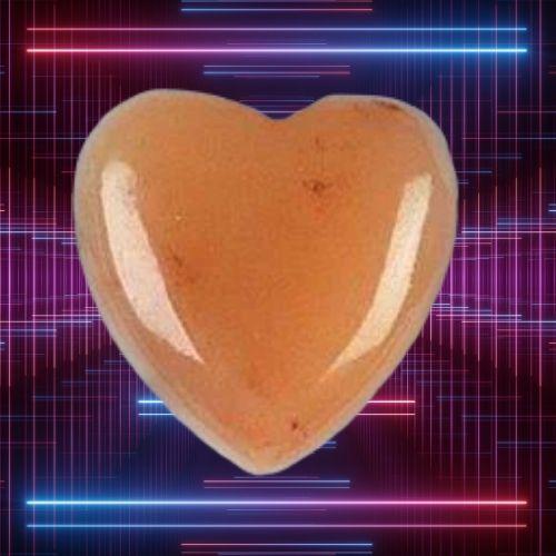 Pink Azeztulite Heart