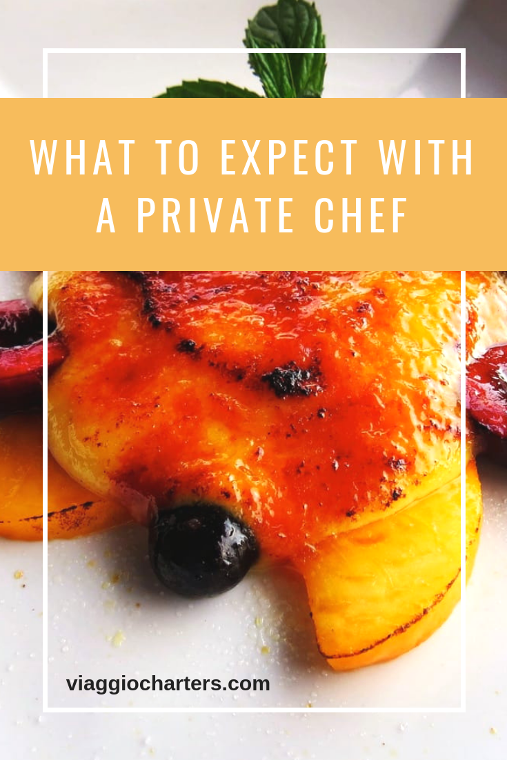 What to expect when dining with a private chef. #privatechef #yachtcharter #alaska #alaskavacation