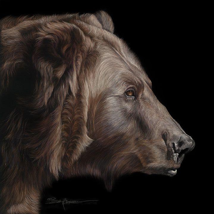 Profile-of-a-Grizzley-Bear 24x24-.jpg