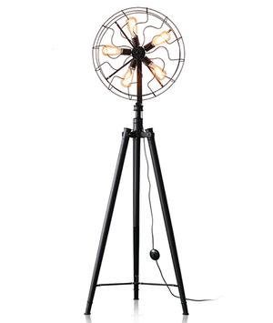 McLaren's Antiques & Interiors - Vintage Edison Bulb Fan