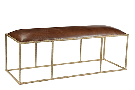 McLaren's Antiques & Interiors - Iron Leather Bench