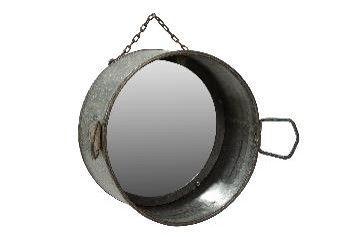 McLaren's Antiques & Interiors - Metal Planter Mirror