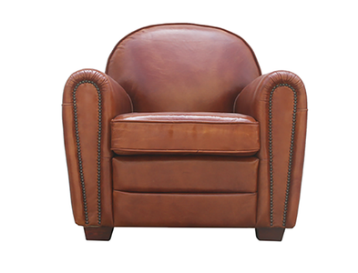 McLaren's Antiques & Interiors - Leather  Chair One