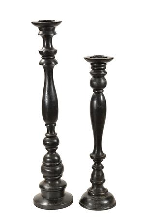 McLaren's Antiques & Interiors - Black Candleholders