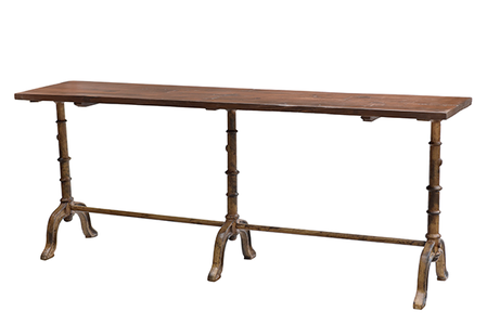 McLaren's Antiques & Interiors - Wood Iron Console Table