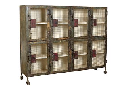 McLaren's Antiques & Interiors - Iron Cabinet