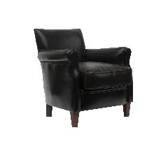 McLaren's Antiques & Interiors - Leather  Lounge Brown