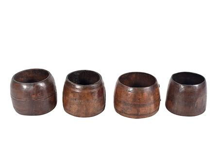 McLaren's Antiques & Interiors - Wood Measure Pots