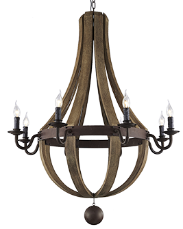 McLaren's Antiques & Interiors - Wood Chandelier Large