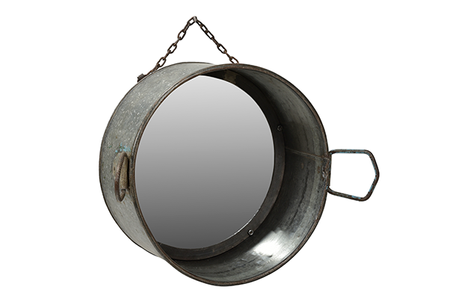 McLaren's Antiques & Interiors - Metal Planter Mirror