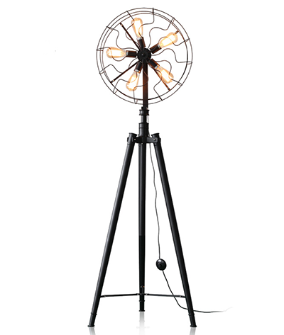 Vintage Edison Bulb Fan