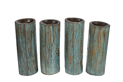 McLaren's Antiques & Interiors - Antique French Wood Candleholders