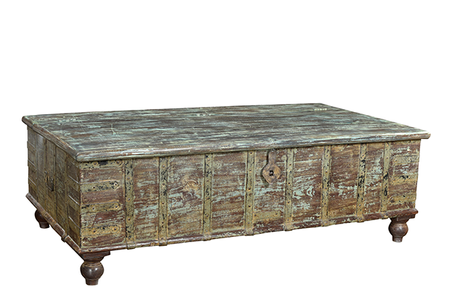 McLaren's Antiques & Interiors - Green Trunk Coffee Table