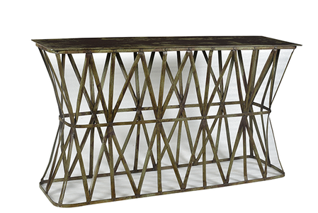 McLaren's Antiques & Interiors - Metal Console Table