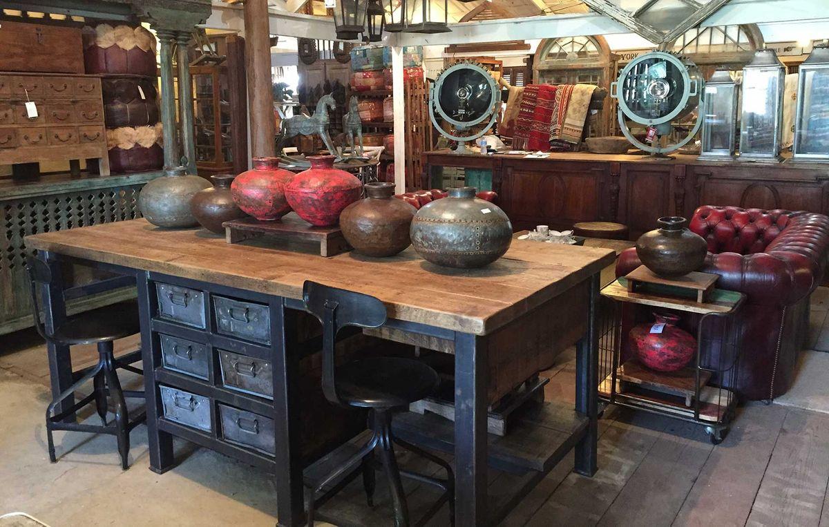 McLaren's Antiques & Interiors - Reclaimed Kitchen Table