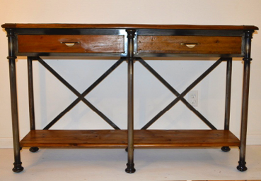 McLaren's Antiques & Interiors - Industrial Console Table