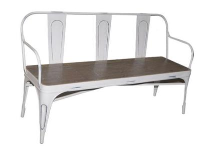 McLaren's Antiques & Interiors - Tolix 3 Seater Industrial  Bench