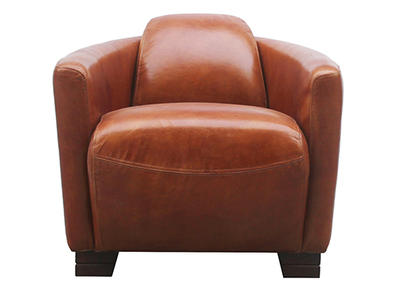 McLaren's Antiques & Interiors - Leather  Rocket Chair