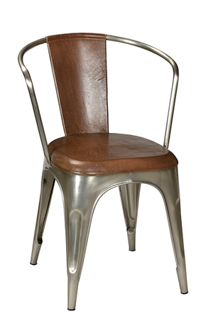 McLaren's Antiques & Interiors - Iron Leather Dining Chair