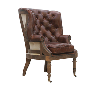 McLaren's Antiques & Interiors - Wingback Leather  and Fabric