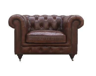 McLaren's Antiques & Interiors - Churchhill Chair Brown