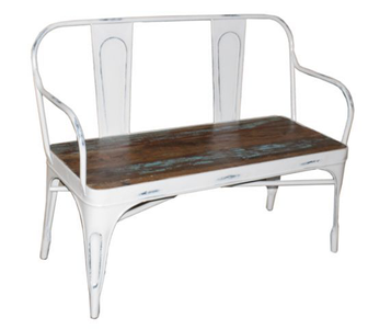 McLaren's Antiques & Interiors - Tolix 2 Seater French Bench