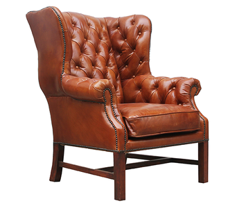 McLaren's Antiques & Interiors - Leather Wingback Chair