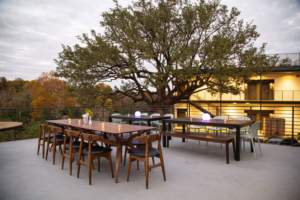 Intimate Event on Creek View Patio