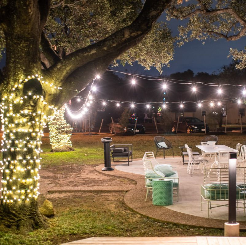 Canopy Patio with Lights