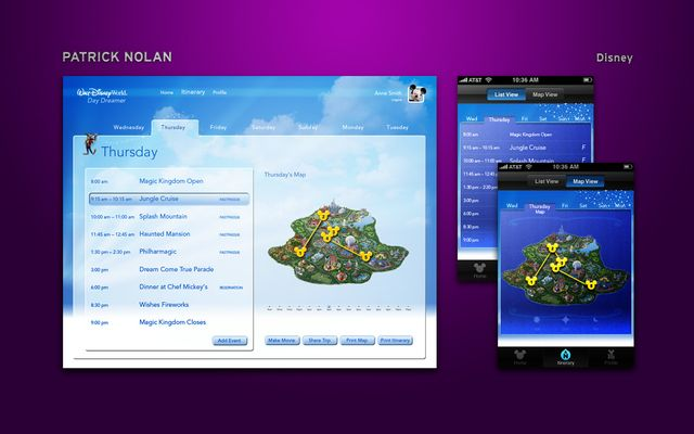 Disney Reservation System and App