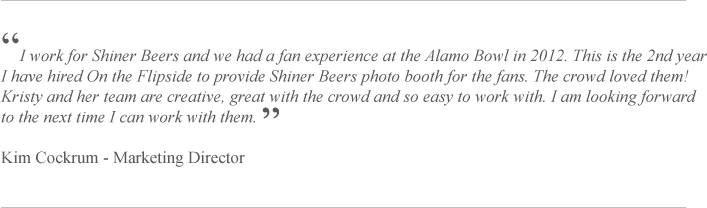 Flipside Review and Shiner