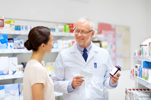 Pharmacist Consulting Patient